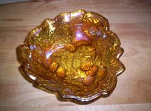 IRIDESCENT CARNIVAL GLASS OPEN CANDY DISH in Camp Lejeune, North Carolina