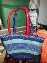 Large straw tote bag in 29 Palms, California