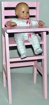 Wood Doll High Chair (Fits 18inch dolls) _ On Sale in Chicago, Illinois